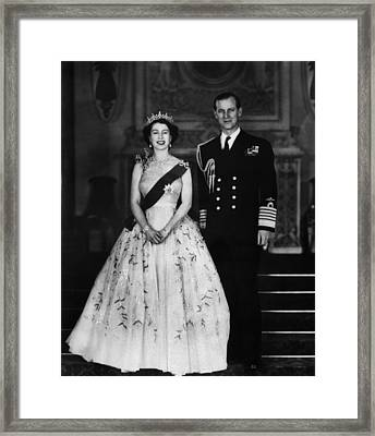 Queen Elizabeth II, The Queen Framed Print by Everett