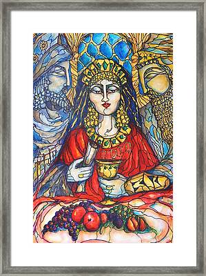 Framed Print featuring the painting Queen Esther by Rae Chichilnitsky
