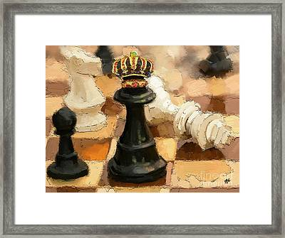 Queen For A Day Framed Print by Carrie Joy Byrnes
