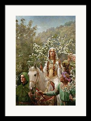 Guinevere Paintings Framed Prints