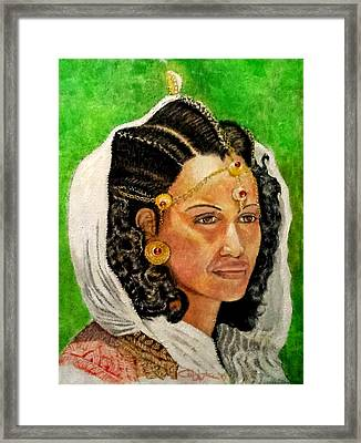 Queen Hephzibah  Framed Print by G Cuffia