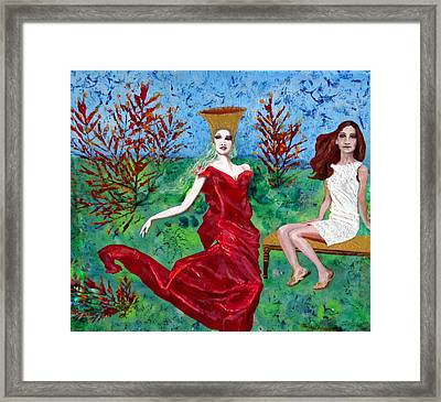 Queen In The Garden Framed Print by Penfield Hondros