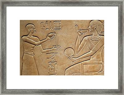 Queen Kawit At Her Toilet Framed Print by Egyptian school