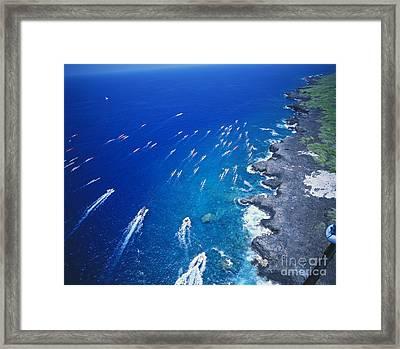 Queen Liliuokalani Canoe Race Framed Print