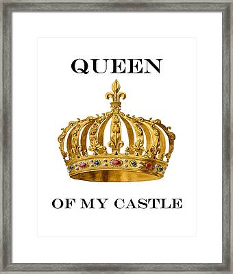 Queen Of My Castle Illustration Framed Print by Madame Memento