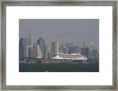 Queen Mary 2 Framed Print by Christopher Kirby