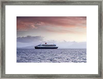 Queen Mary 2 Framed Print by Grant Glendinning