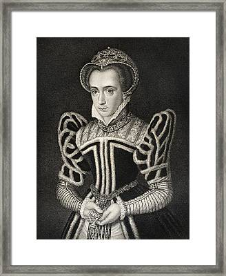 Queen Mary Aka Mary Tudor Byname Bloody Framed Print by Vintage Design Pics