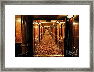 Framed Print featuring the photograph Queen Mary Hallway by Mariola Bitner