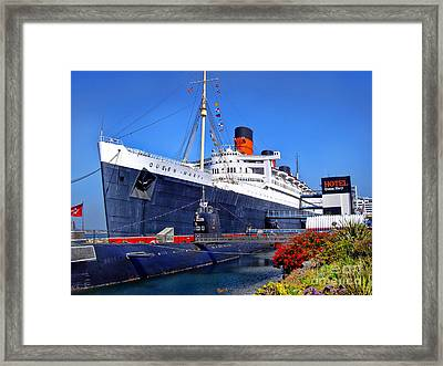 Queen Mary Ship Framed Print