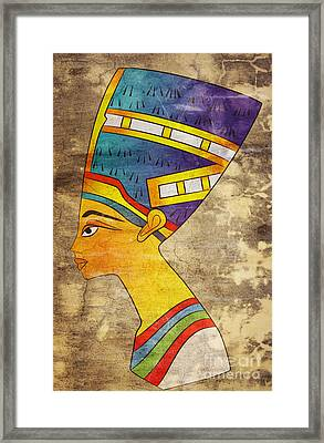 Queen Of Ancient Egypt Framed Print by Michal Boubin