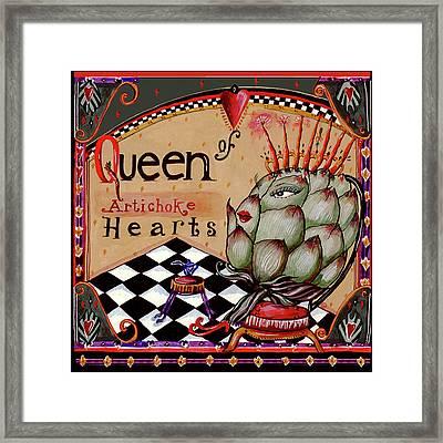 Queen Of Artichoke Hearts Framed Print