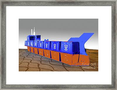Framed Print featuring the photograph Queen Of Carbon  Tanker by Bill Thomson