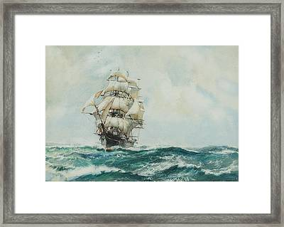 Queen Of Clippers Framed Print by Montague Dawson