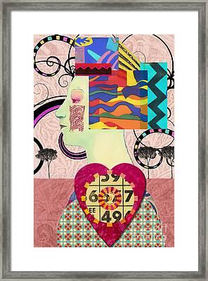 Queen Of Hearts Custom Order Framed Print