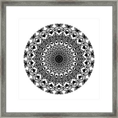 Queen Of Hearts King Of Diamonds Mandala Framed Print