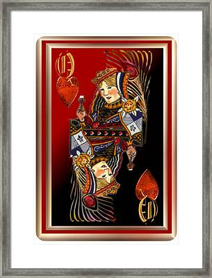 Queen Of Hearts Framed Print by Pamela Mccabe