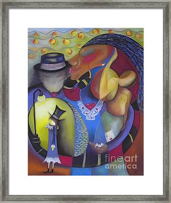 Queen Of Hearts Framed Print by Tracey Levine