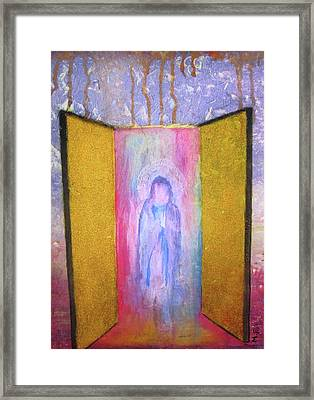 Framed Print featuring the painting Queen Of Heaven by Mary Ellen Frazee