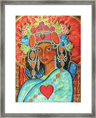 Queen Of Her Own Heart Framed Print by Shiloh Sophia McCloud