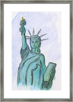 Queen Of Liberty Framed Print