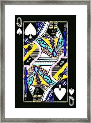 Queen Of Spades - V2 Framed Print by Wingsdomain Art and Photography
