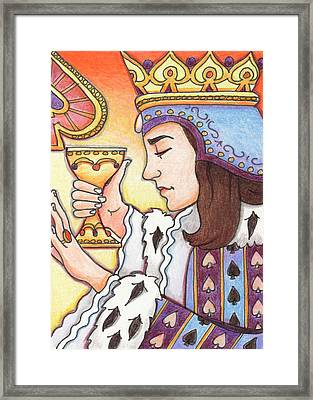Queen Of Spades Framed Print by Amy S Turner