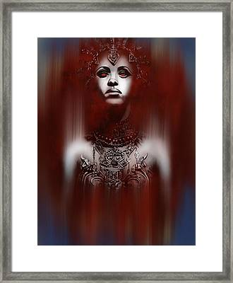 Queen Of The Damned Framed Print by Michael Gibbs