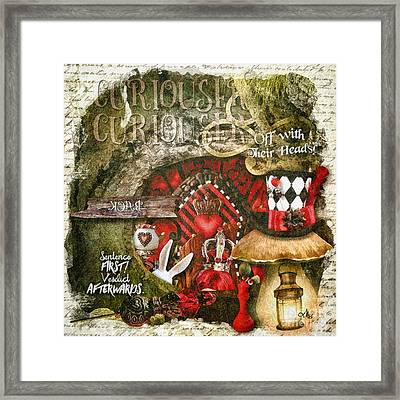 Queen Of The Hearts Framed Print