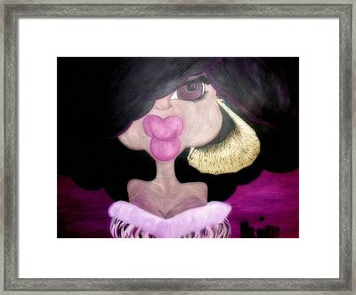 Queen Of The Night Framed Print by Pani Kazemi