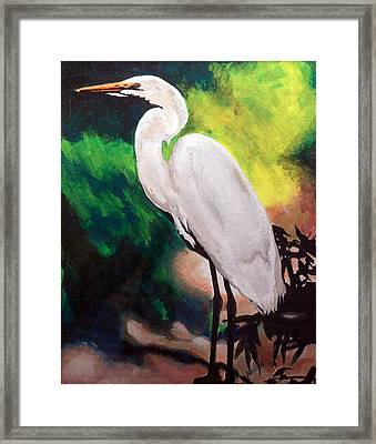 Framed Print featuring the painting Queen Of The Swamp by Jim Phillips
