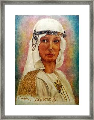 Queen Sheba  Framed Print by G Cuffia