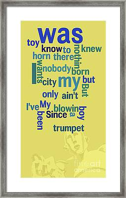 Queen. Sleeping On The Sidewalk. Messy Lyrics. Game For Musicians And Fans Framed Print