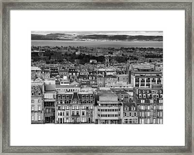 Framed Print featuring the photograph Queen Street To The Forth by Adrian Pym