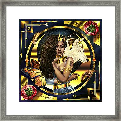 Queen Sza Illustration Framed Print by Kenal Louis