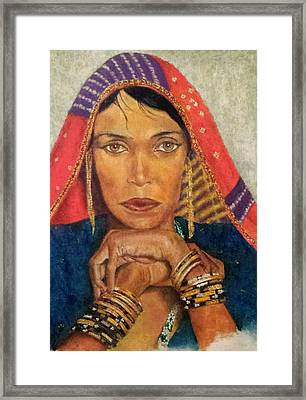 Queen Tahpenes  Framed Print