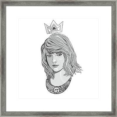 Queen Taylor Swift In Grey Framed Print by Kenal Louis