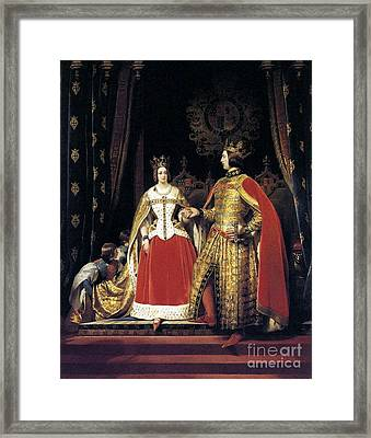Queen Victoria And Prince Albert At The Bal  Framed Print by MotionAge Designs