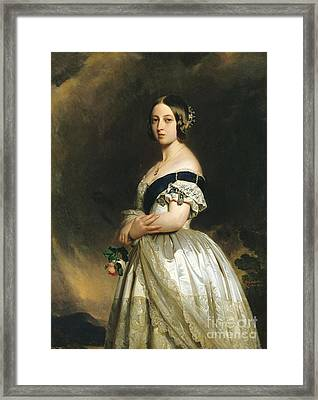 Queen Victoria Framed Print by Franz Xaver Winterhalter