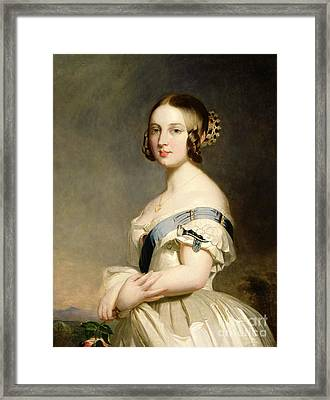 Queen Victoria Framed Print by Franz Xavier Winterhalter