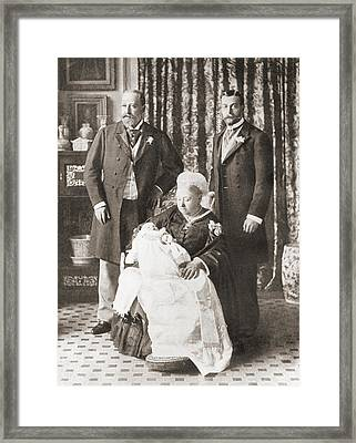 Queen Victoria Holding Her Great Framed Print