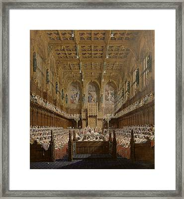 Queen Victoria In The House Of Lords Framed Print