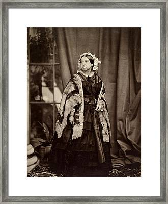 Queen Victoria Photographed Framed Print by MotionAge Designs