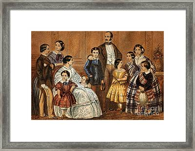 Queen Victoria, Prince Albert Framed Print by Wellcome Images