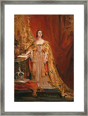 Queen Victoria Taking The Coronation Oath 28 June 1838 Framed Print
