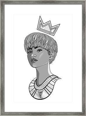 Queen Zendaya Framed Print by Kenal Louis