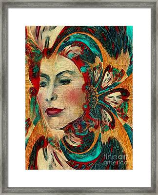 Framed Print featuring the digital art Queenie by Alexis Rotella