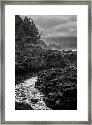 Queens Bath Kauai Framed Print