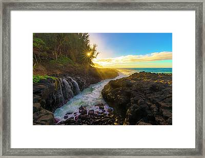 Queen's Bath Framed Print by Peter Irwindale