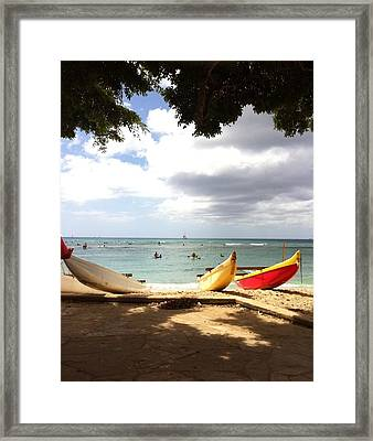 Queens' Canoes Framed Print
